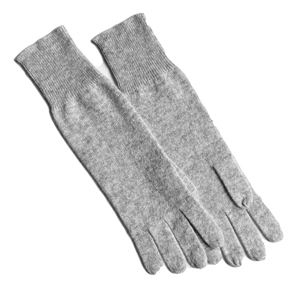 Cashmere Gloves in Pale Marle Grey - sonyahopkins.com