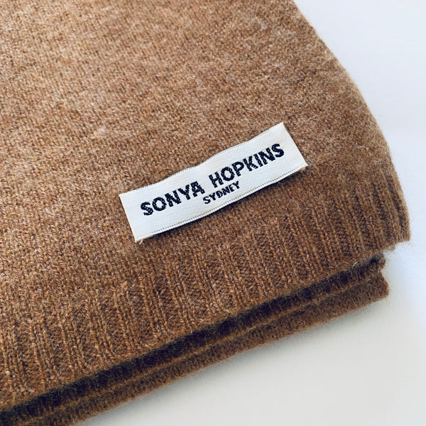 100% Cashmere Jean Scarf in Toffee