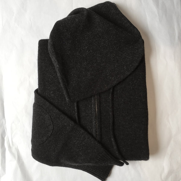 Cashmere Kids Hoody in Charcoal Marle Grey - sonyahopkins.com