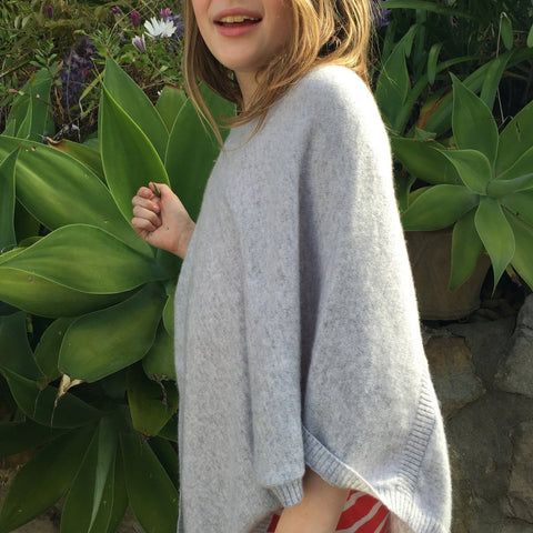 Kids Cashmere Poncho - prices change according to size.