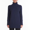 Winter Warmer Cashmere Long Turtleneck in Denim
