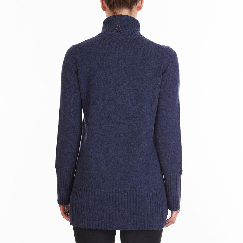 Cashmere Winter Warmer Long Turtleneck in Denim - sonyahopkins.com