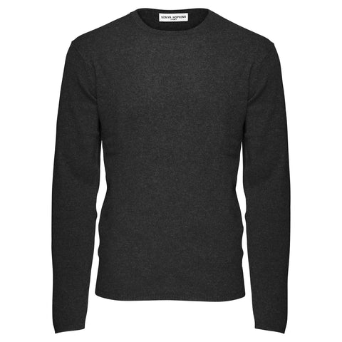 Jack Mens Crew Neck in Dark Charcoal