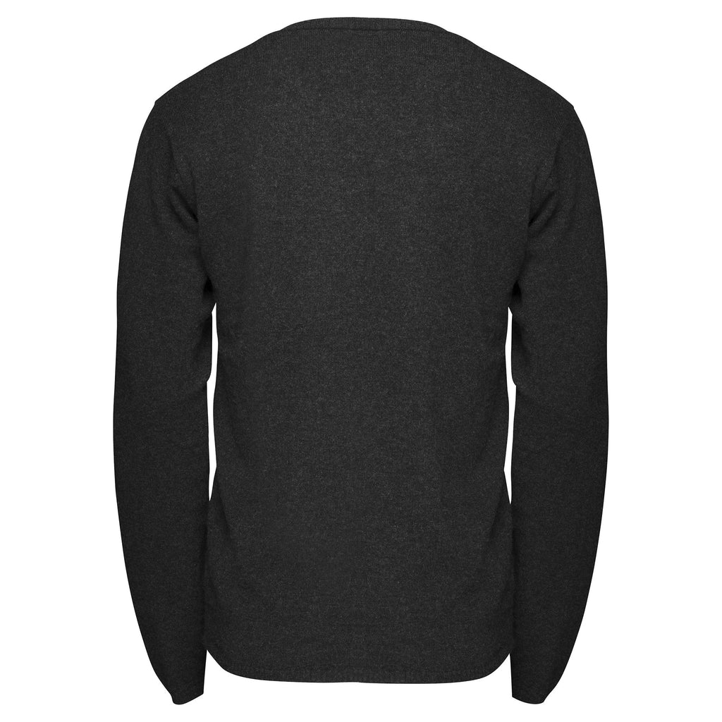 Cashmere Mens Jack Crew Neck in Dark Charcoal - sonyahopkins.com