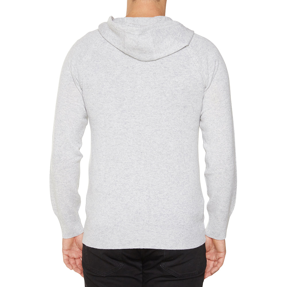 Cashmere Mens Hoody in Pale Marle Grey - sonyahopkins.com