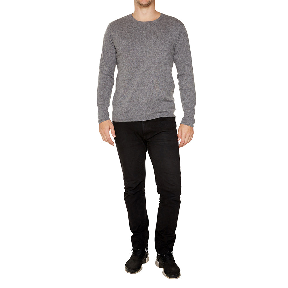 Cashmere Mens Jack Crew Neck in Charcoal - sonyahopkins.com