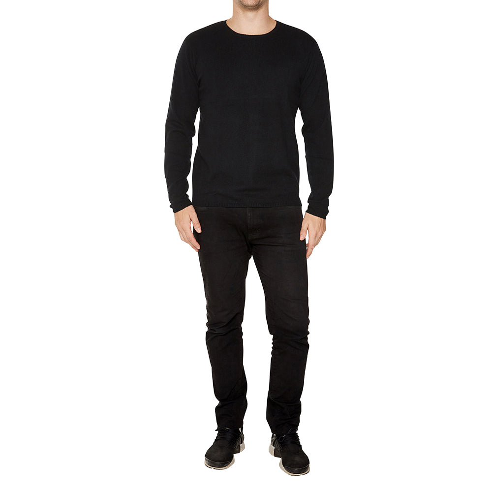 Cashmere Mens Jack Crew Neck in Black - sonyahopkins.com