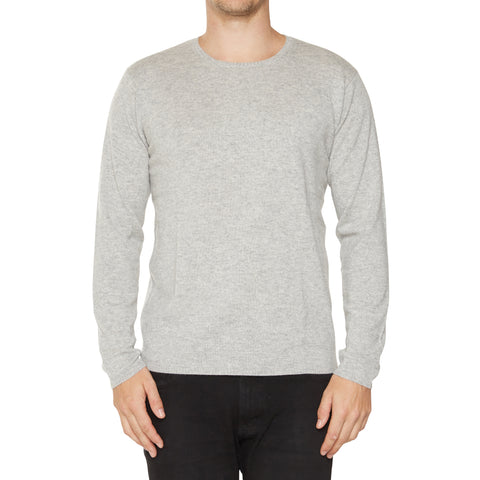 Jack Mens Crew Neck in Pale Grey Marle - sonyahopkins.com