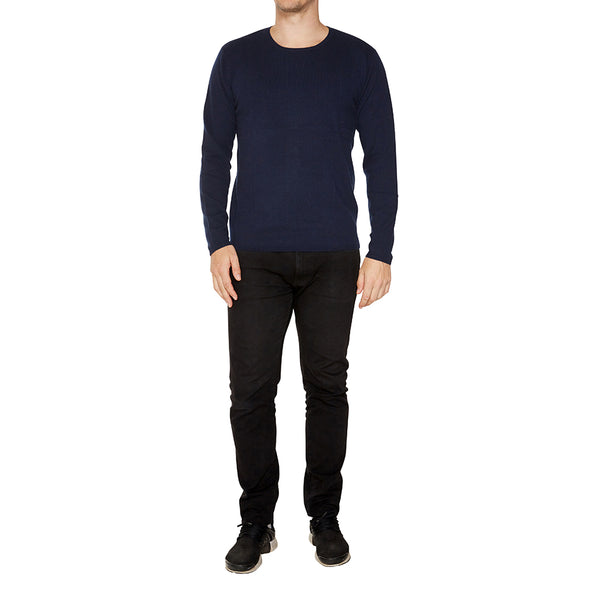 Cashmere Mens Jack Crew Neck in Navy - sonyahopkins.com