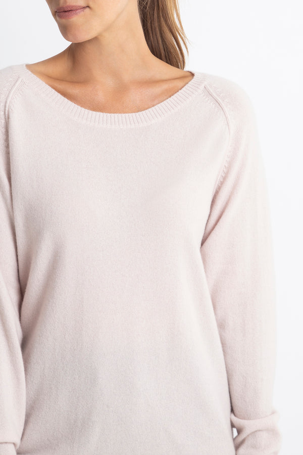Sonya Hopkins 100% pure cashmere slouch sweater in blush