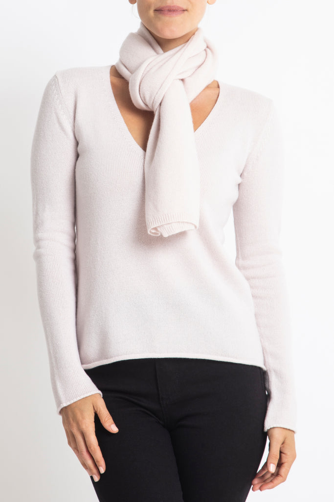 Sonya Hopkins 100% Pure Cashmere scarf in blush