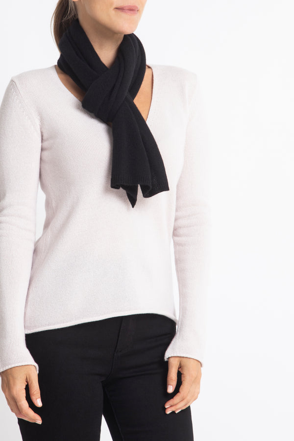 Sonya Hopkins 100% Pure Cashmere scarf in black