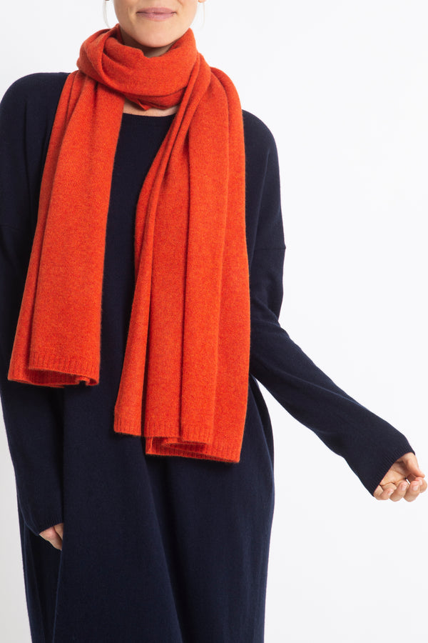 100% Cashmere Jean Scarf in Spice