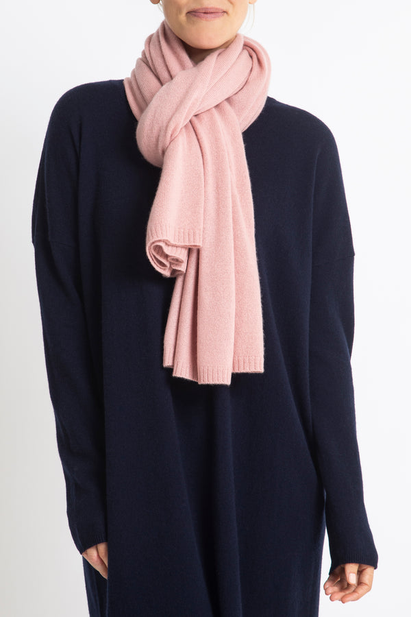 100% Cashmere Jean Scarf in Rose