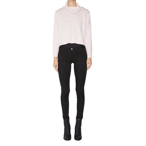 Cashmere Cropped Rebecca Turtleneck in Powder Pink - sonyahopkins.com