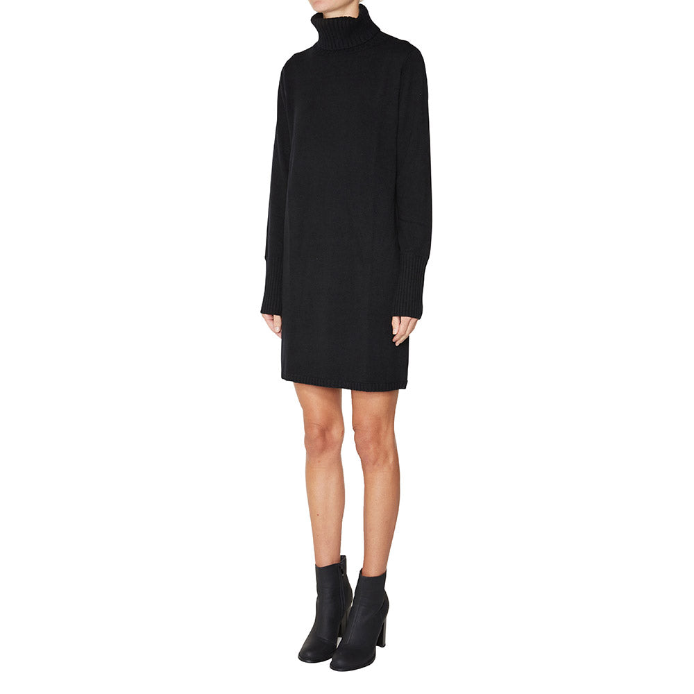 Cashmere Francesca Sweater Dress in Black - sonyahopkins.com