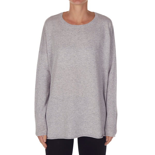 Cashmere Rachel Oversized Knit in Pale Marle Grey - sonyahopkins.com