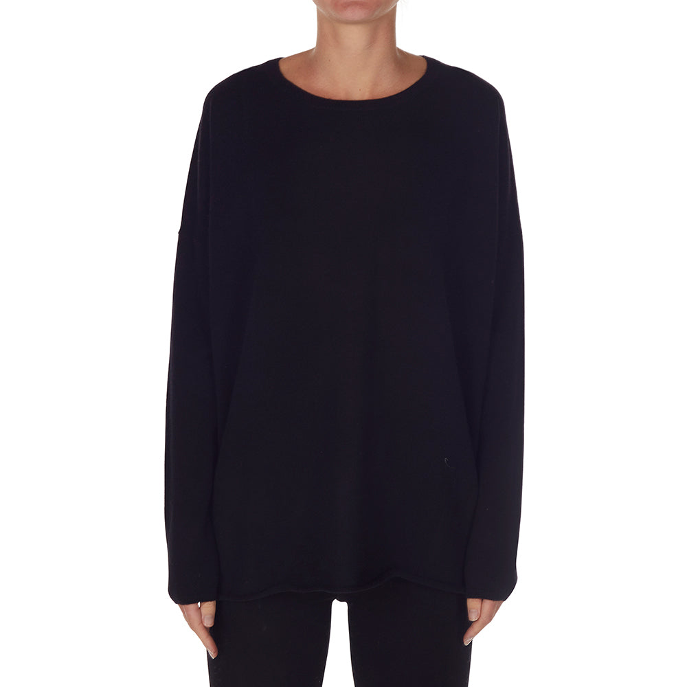 Cashmere Rachel Oversized Knit in Black - sonyahopkins.com