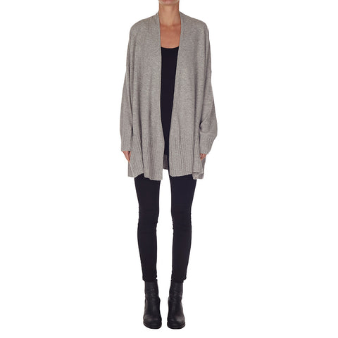 Suzanne Cashmere Draped Cardigan in Marle Grey