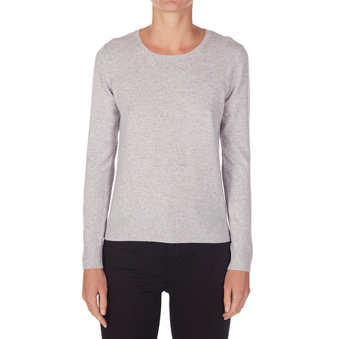 Daisy Crew Neck in Pale Marle Grey