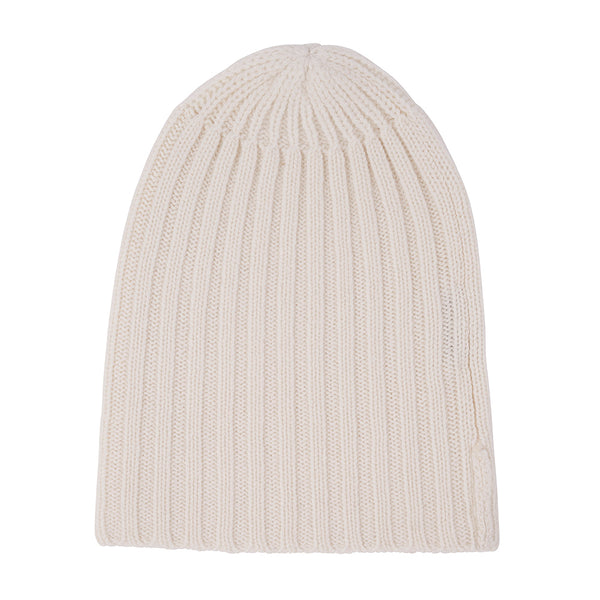 Cashmere Alex Rib Beanie in Denim - sonyahopkins.com