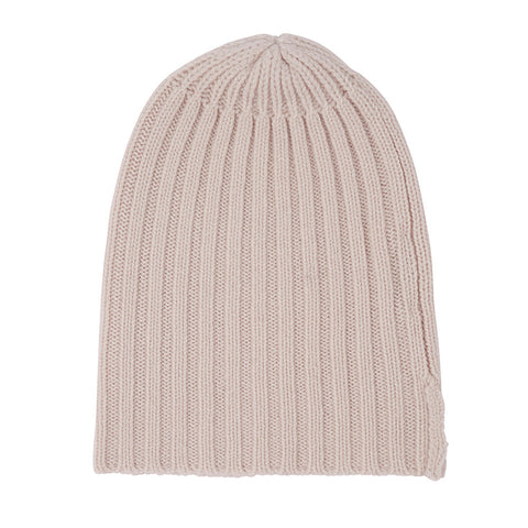 Alex Rib Cashmere Beanie in Blush
