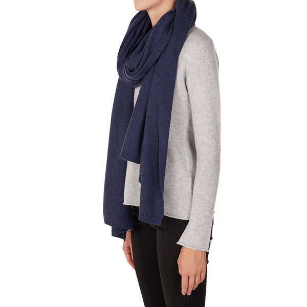 100% Cashmere Jean Wrap in Denim - sonyahopkins.com