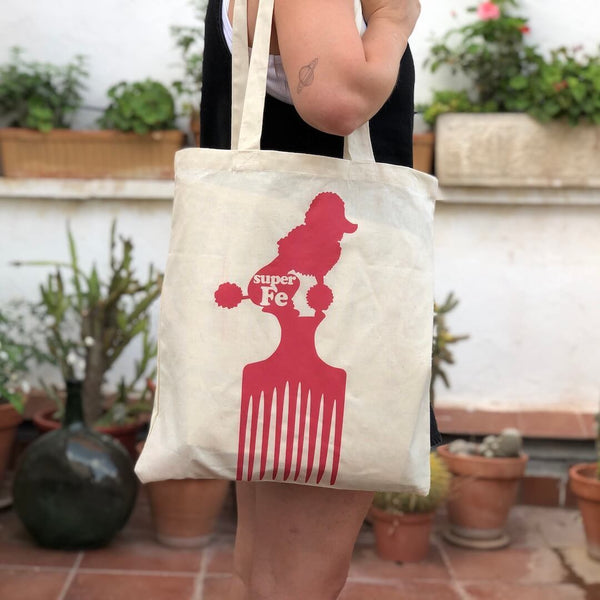 TOTEBAG CANICHE COLOR NATURAL SUPERFE | BOLSA TELA CANICHE | BOLSO TELA EXCLUSIVA ORIGINAL SUPERFE.ES