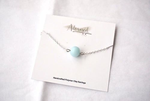 Ice blue bead necklace