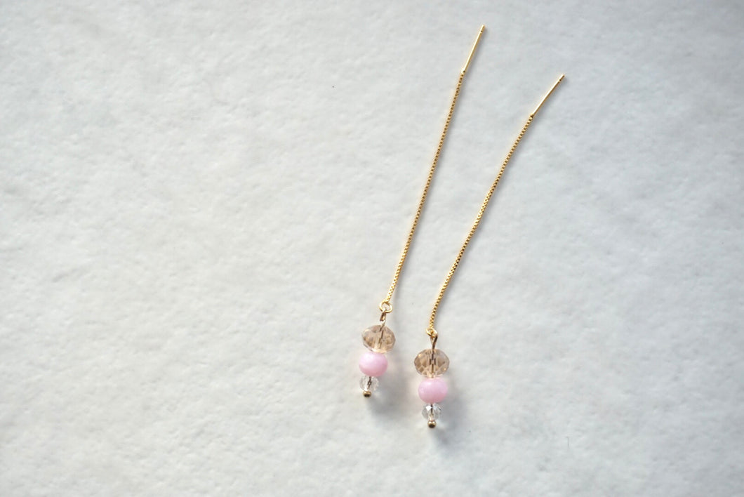 Light pink beaded threaders