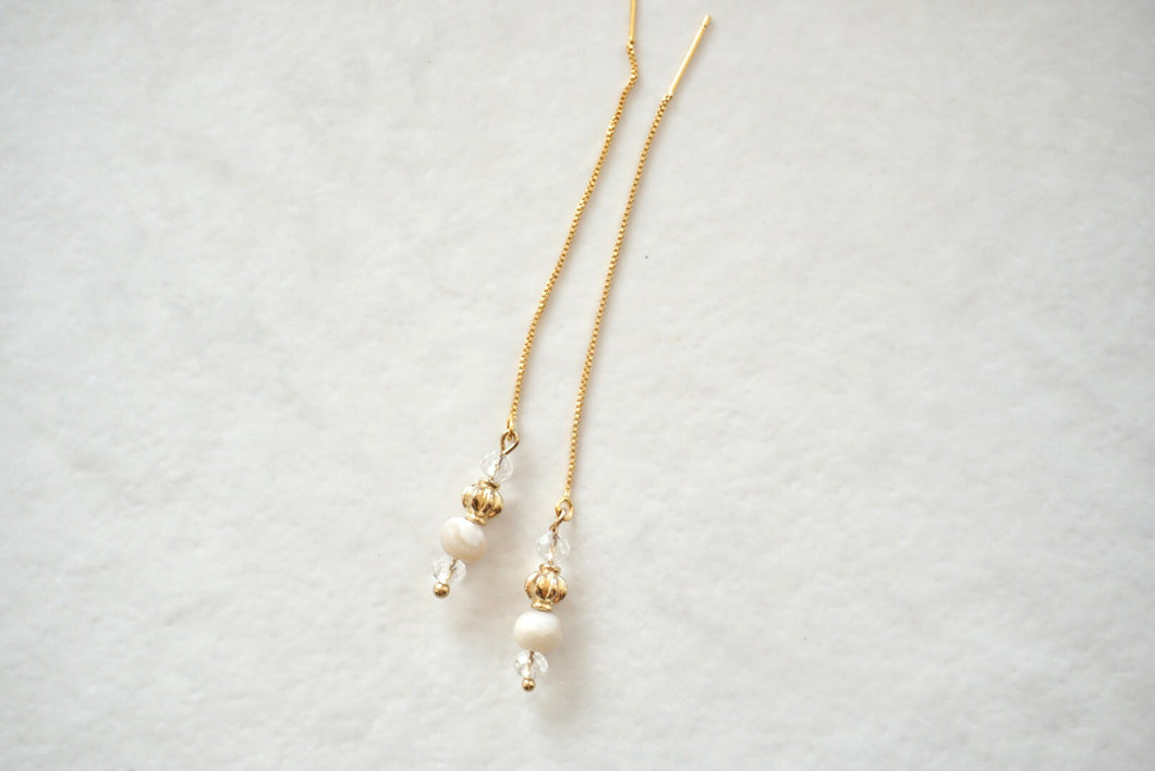 Gold pearly bead threaders
