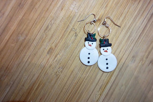 Large Snowmen Earrings