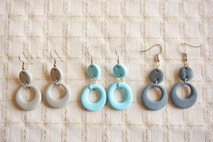 Oval cutout earrings