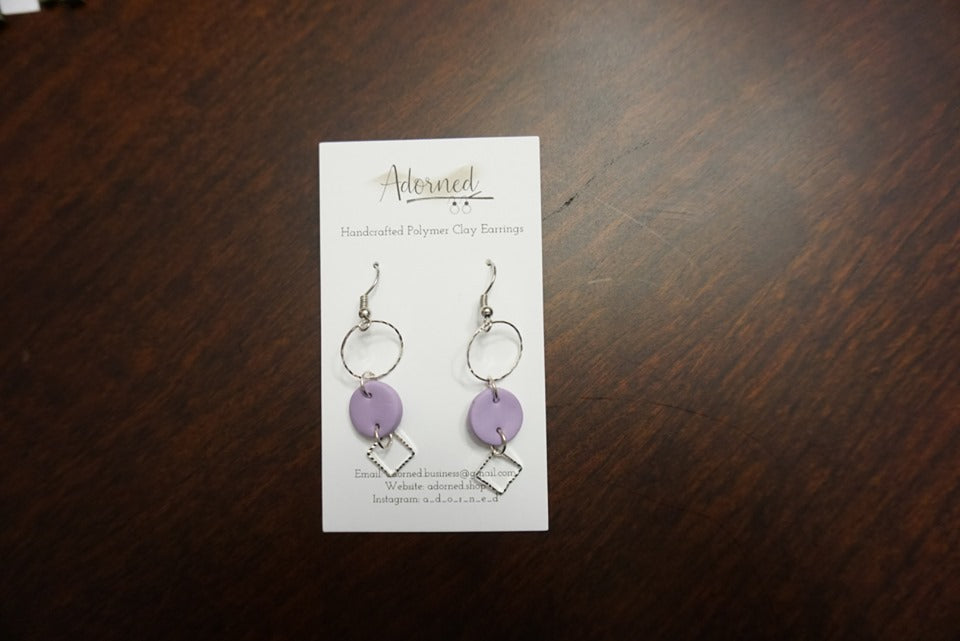 Lavender dangle earrings