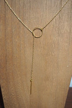 Load image into Gallery viewer, Gold drop necklace