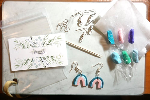 Polymer clay earring kit