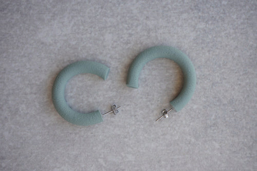 Large green/blue hoops