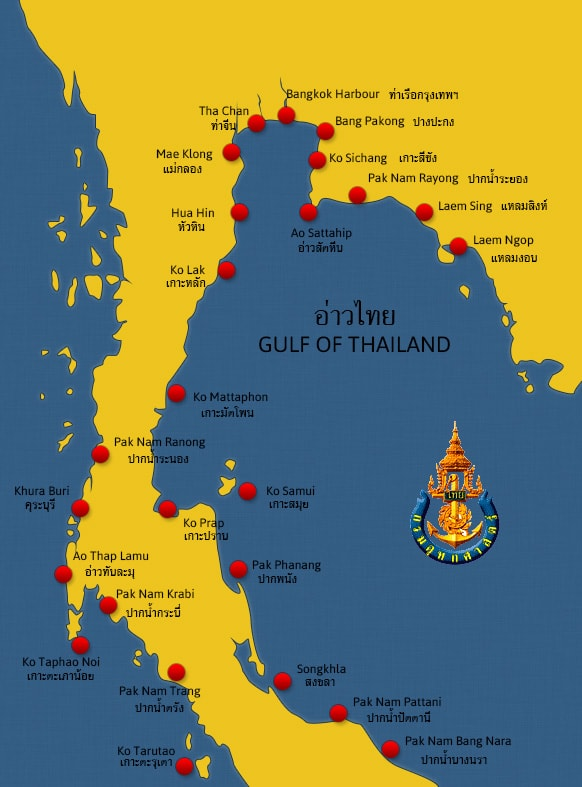 Thailand Map tide table