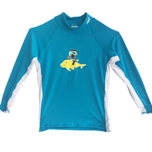 Load image into Gallery viewer, Kid's Rash Guard Multicolour Fish Print