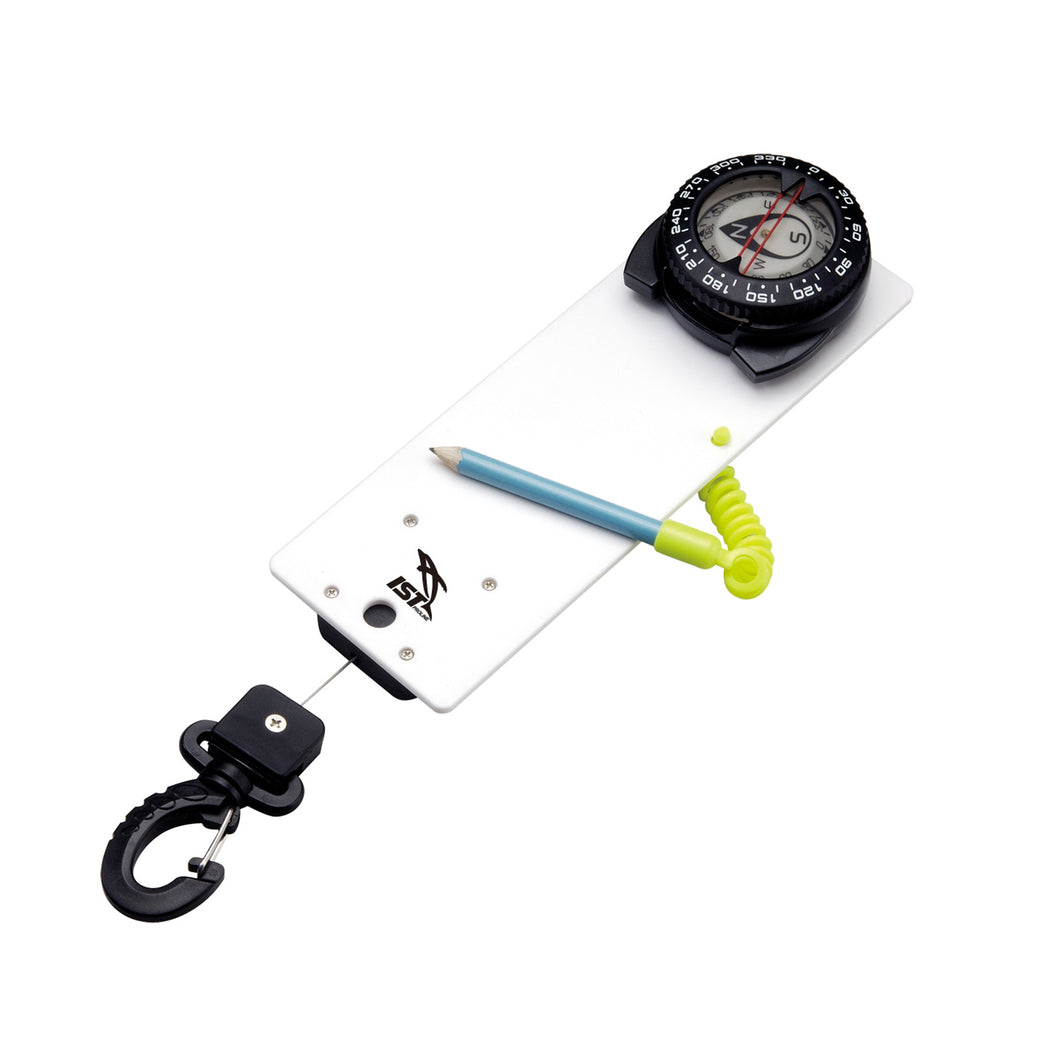 Writing Slate with Compass and clip-on retractor