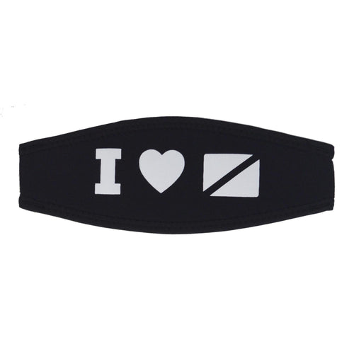 'I Love Diving' Mask Strap