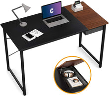 "Load image into Gallery viewer, Cubiker 47""Writing Computer Desk with drawer, Black Espresso color"