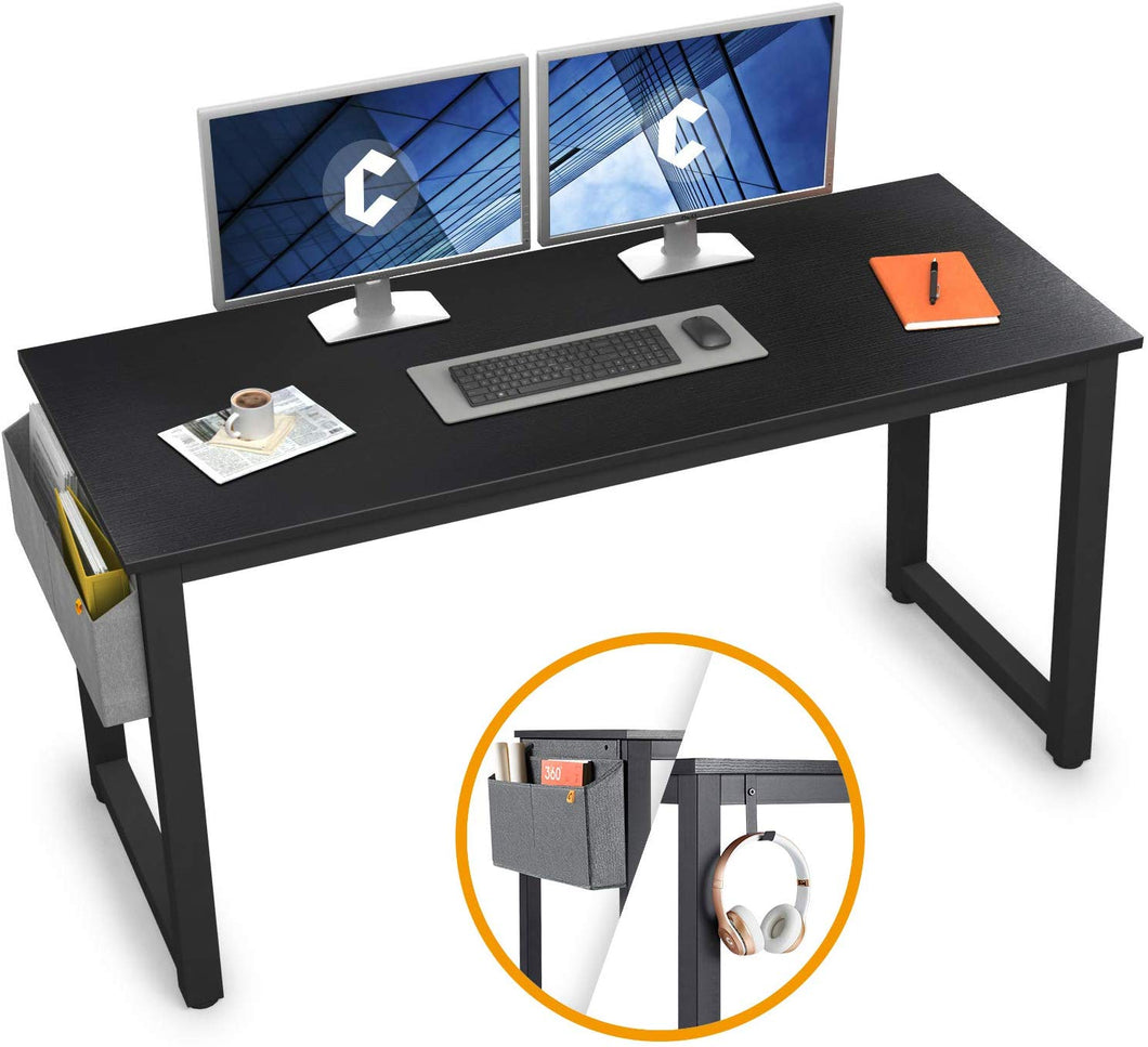 "Cubiker 55""Writing Computer Desk with Extra Strong Legs, Black color"