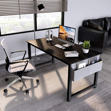 "Load image into Gallery viewer, Cubiker 55""Writing Computer Desk with Extra Strong Legs, Black color"