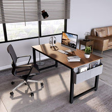 "Load image into Gallery viewer, Cubiker 63""Writing Computer Desk with Extra Strong Legs, Espresso color"
