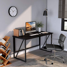 "Load image into Gallery viewer, Cubiker Writing Computer Desk 47"" Modern Simple Study Desk,Easy Assembly Black"