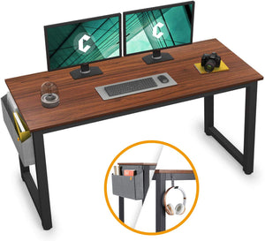 "Cubiker 47""Writing Computer Desk with Extra Strong Legs, Espresso color"