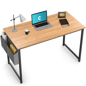 "Cubiker Writing Computer Natural Desk 40"" Home Office Study Desk"