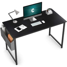 "Load image into Gallery viewer, Cubiker Computer Black Desk 47"" Home  Office Writing Study Desk"