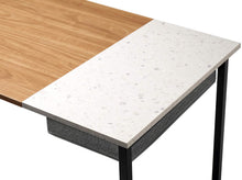 "Load image into Gallery viewer, Cubiker 47"" Writing Computer Desk with drawer, Natural Terrazzo"